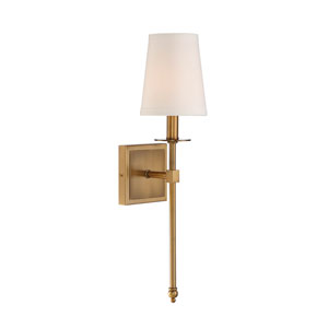 Monroe Warm Brass One-Light 20-Inch Sconce