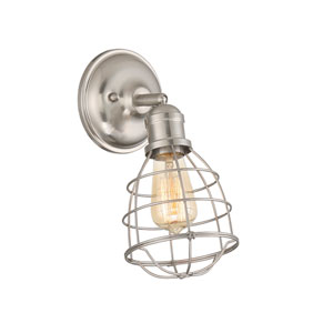 Scout Satin Nickel One-Light Sconce