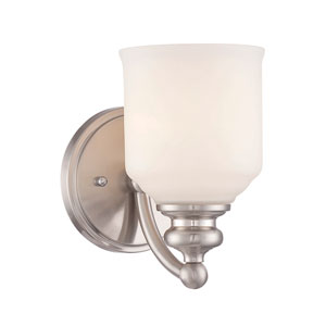 Melrose Satin Nickel 5-Inch One-Light Bath Fixture