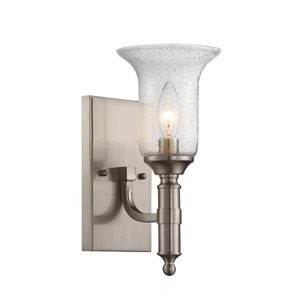 Trudy Satin Nickel One-Light Sconce