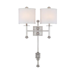 Devon Satin Nickel Two-Light Sconce