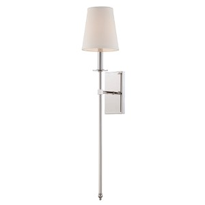 Monroe Polished Nickel One-Light 6.5-Inch Wide Wall Sconce