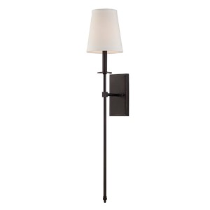 Monroe Bronze One-Light 7-Inch Wide Wall Sconce