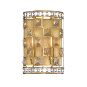 Clarion Gold Bullion Two-Light Sconce