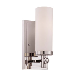 Manhattan Polished Nickel One-Light Wall Sconce