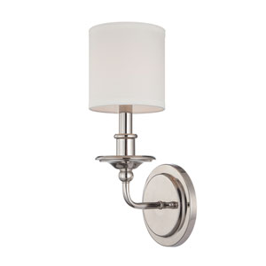 Polished Nickel One Light Wall Sconce