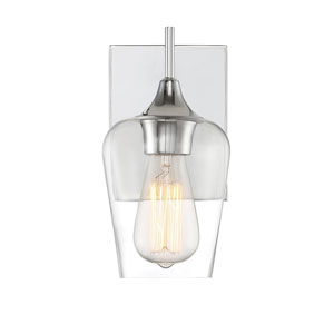 Octave Polished Chrome One-Light Wall Sconce