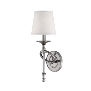 Foxcroft Brushed Pewter Wall Sconce