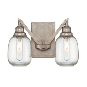 Orsay Industrial Steel Two Light Sconce