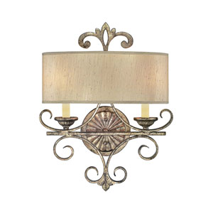 Savonia Oxidized Silver Two-Light Wall Sconce