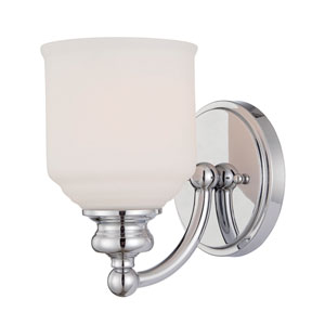 Melrose Chrome and Polished Nickel One Light Wall Sconce