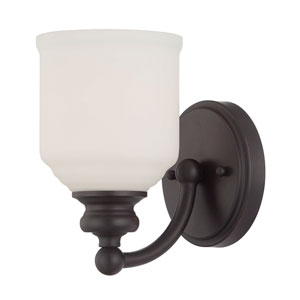 Melrose Bronze One Light Wall Sconce