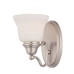 Yates Satin Nickel and Pewter One Light Wall Sconce
