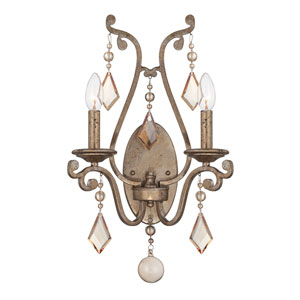 Rothchild Oxidized Silver Two Light Sconce