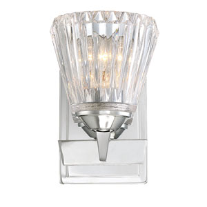 Dresd Chrome 5-Inch One-Light Wall Sconce