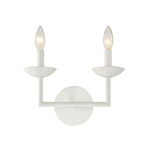 Piper Porcelena 12-Inch Two-Light Wall Sconce