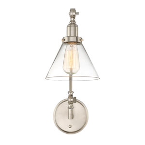 Drake Satin Nickel 7-Inch One-Light Wall Sconce