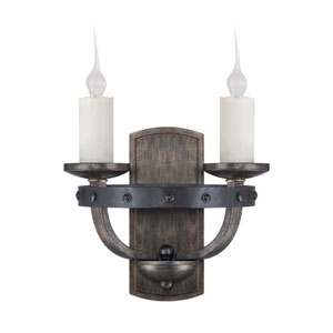 Alsace Reclaimed Wood Two-Light Sconce