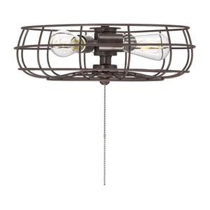 Ratcliffe English Bronze Three-Light Fan Light Kit