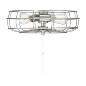 Ratcliffe Satin Nickel Three-Light Fan Light Kit