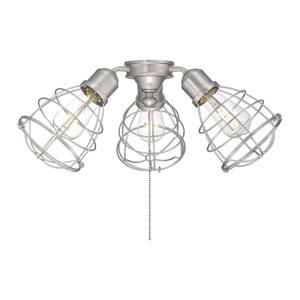 Heath Satin Nickel Three-Light Fan Light Kit