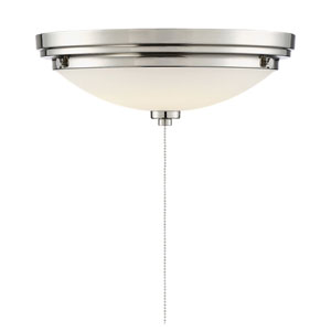 Lucerne Polished Nickel One-Light Fan Light Kit