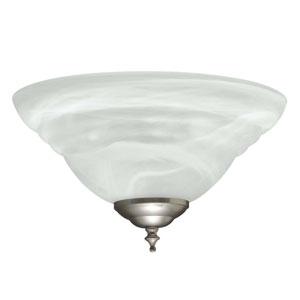 Concord Satin Nickel Bowl Fan Light Kit