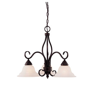 Oxford English Bronze Three-Light Chandelier