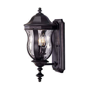Monticello Black Two-Light Outdoor Lantern