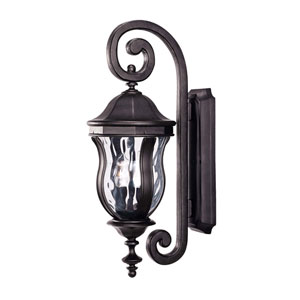 Monticello Black Two-Light Wall Mount