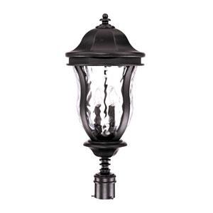Monticello Black Outdoor Post-Mounted Lantern