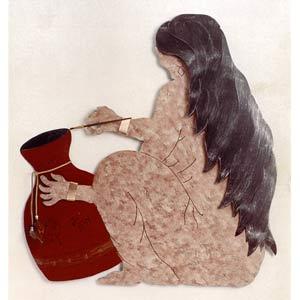 Pottery Woman Wall Art