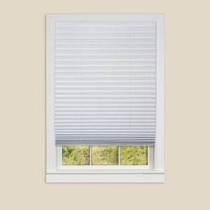 1-2-3 White 75 x 36-Inch Pleated Shades