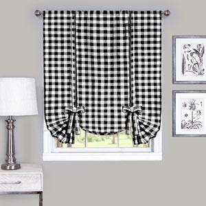 Buffalo Check Black 42 x 63-Inch Window Tie Up Shade