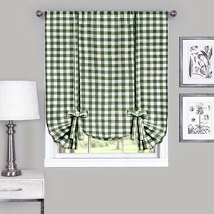 Buffalo Check Sage 42 x 63-Inch Window Tie Up Shade