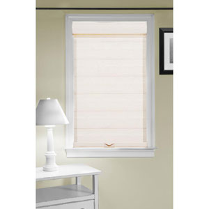 Cordless Celestial Sheer Double Layered Linen 72 x 23-Inch Shade