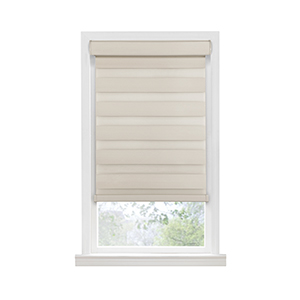 Celestial Tan 72 x 23 In. Cordless Room Darkening Double Layered Shade