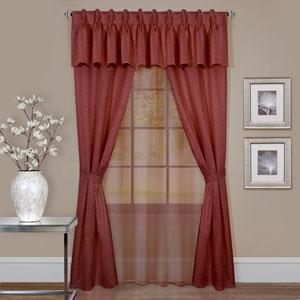Claire Marsala 63 x 55 In., Six-Piece Window Curtain Set