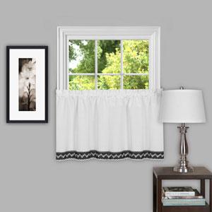 Camden Black and White 58 x 36-Inch Window Tier Pair