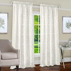 Chloe Ivory 63 x 50 In. Window Curtain Panel