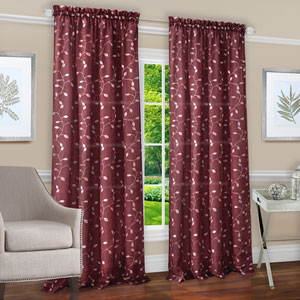 Chloe Marsala 63 x 50 In. Window Curtain Panel