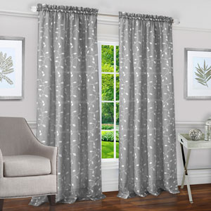Chloe Silver 63 x 50 In. Window Curtain Panel