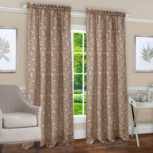 Chloe Taupe 63 x 50 In. Window Curtain Panel