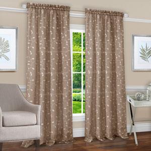 Chloe Taupe 84 x 50 In. Window Curtain Panel