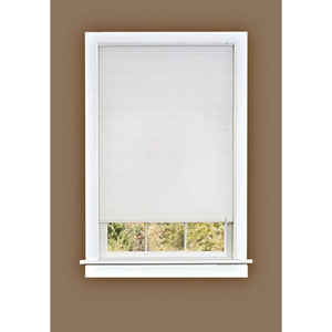 Honeycomb Cellular White 64 x 23-Inch Pleated Shade