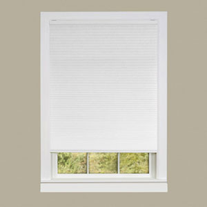 Cordless Honeycomb Cellular Pleated White 64 x 23-Inch Pleated Shade