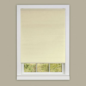 Cordless Honeycomb Cellular Pleated Alabaster 64 x 39-Inch Pleated Shade