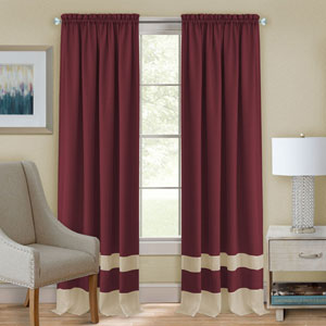 Darcy Marsala And Tan 84 X 52 In Window Curtain Panel