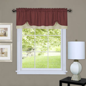 Darcy Marsala and Tan 58 x 14-Inch Window Valance