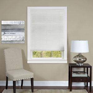 Cordless Deluxe Sundown White 64 x 27-Inch Mini Blind